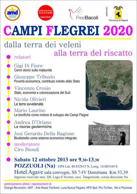 Campi Flegrei 2020: sabato 12 ottobre (ore 9,30) incontro all'Hotel Agave a Pozzuoli