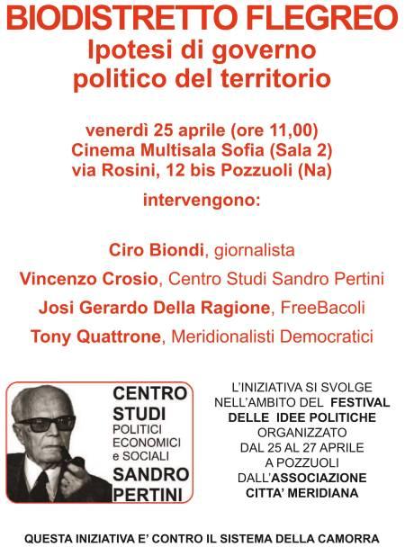 Festival delle Idee Politiche a Pozzuoli: Venerdì 25 convegno sul Biodistretto